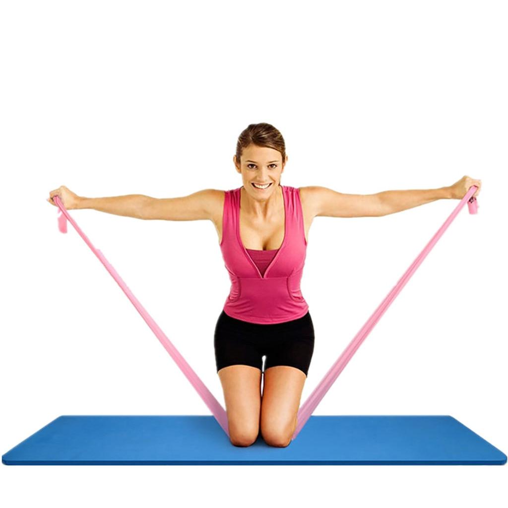 Эластичный Йога, Пилатес, стрейч, сопротивление 1,5 м, длинный спортивный пояс для фитнеса, пояс для йоги, ралли, тянущийся пояс, оборудование для фитнеса и йоги#30