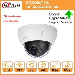 Oryginalna kamera IP Dahua PTZ SD22204T GN SD22204UE GN PTZ 4X zoom optyczny kopuła WDR ICR Ultra DNR IVS POE IP66 IK10 kamera wifi w Kamery nadzoru od Bezpieczeństwo i ochrona na