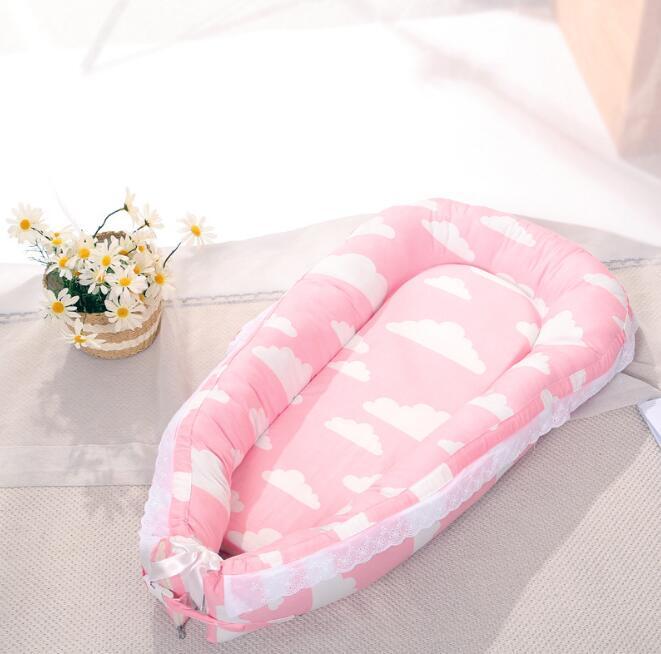 Дорожная кроватка матрас для детской кровати спальная корзина мягкий хлопок гнездо портативная кроватка постельные принадлежности подушки открытый Дети Уход YAN007 - Цвет: YAN007B
