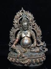"13 ""Тибет Буддизм старинная бронза киновари huang caishen"