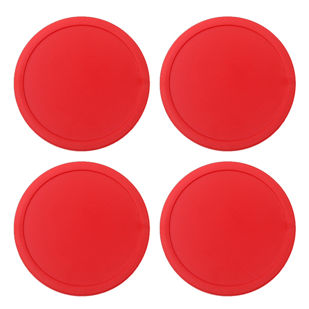 4pcs 75mm Air Hockey Pushers Pucks Red Air Hockey Children Table Mini Ice Hockey Piece Air Suspension Accessories Ball Sport Too