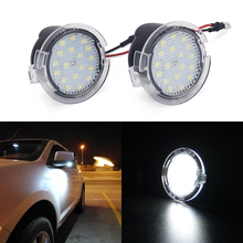 White LED Car Rear Mirror Light Welcome Light  for Ford Mondeo MK4 Fusion 2 Focus MK2 Explorer Taurus Under Mirror Puddle Light led 2008 2012 car day light car fog light car headlight transit explorer topaz edge taurus fusion car taillight