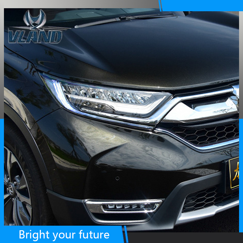 Head Lamp for <font><b>Honda</b></font> <font><b>CRV</b></font> Headlights 2017 <font><b>2018</b></font> <font><b>LED</b></font> Headlight DRLV <font><b>LED</b></font> Strip Double Beam HID image