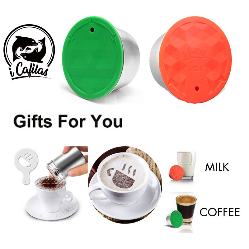 For Dolce Gusto Coffee Capsule Plastic Capsule Refillable Reusable Compatible With Nescafe Dolce Gusto Refill Cup Use 150times