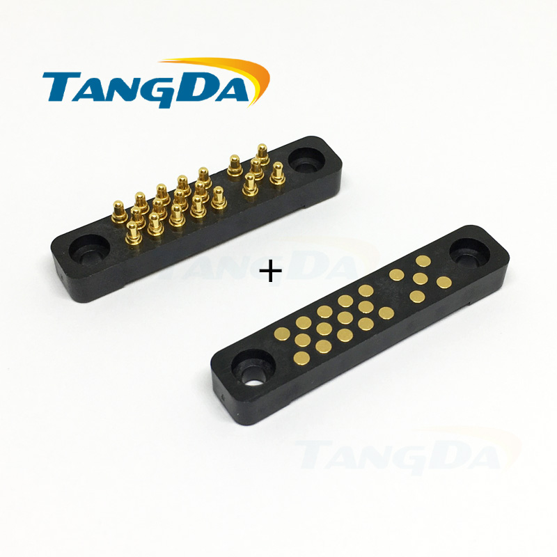 Tangda 19pin big current probe pogopin connector pcb board contact conductive needle 19p 4.12mm 3mm 8.7mm A|Connectors| |  - title=