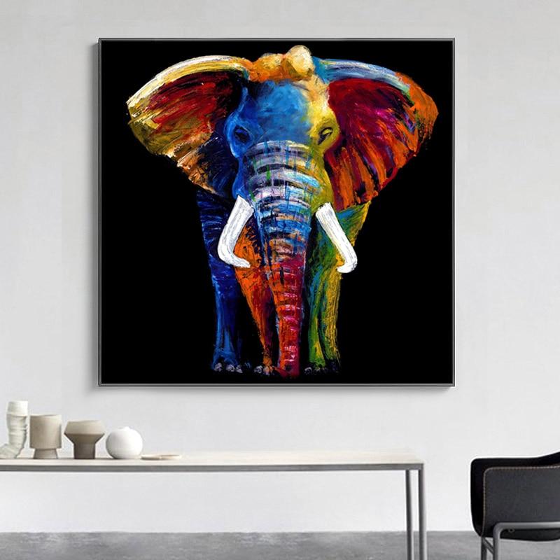 Selflessly Modern Colorful Elephant