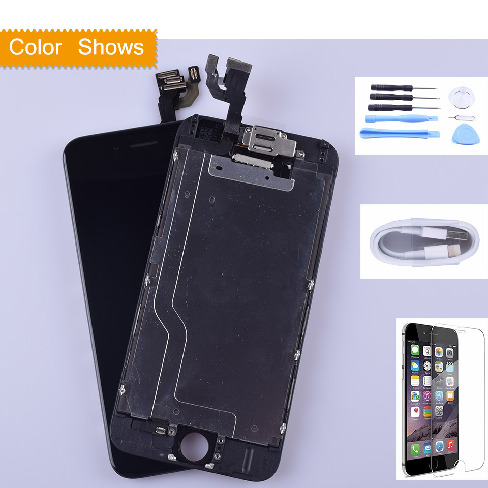 LCD Screen for iPhone 6 Display Digitizer Touch full lcd with small parts Assemby+Front Camera Tianma