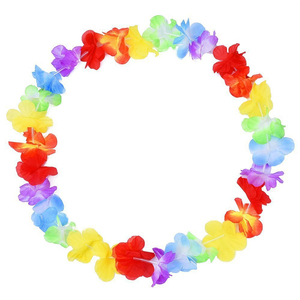 Image 3 - 100pcs/lot hawaii party leis flower wreath garland hawaiian necklace torpil hawai floral farmhouse decor