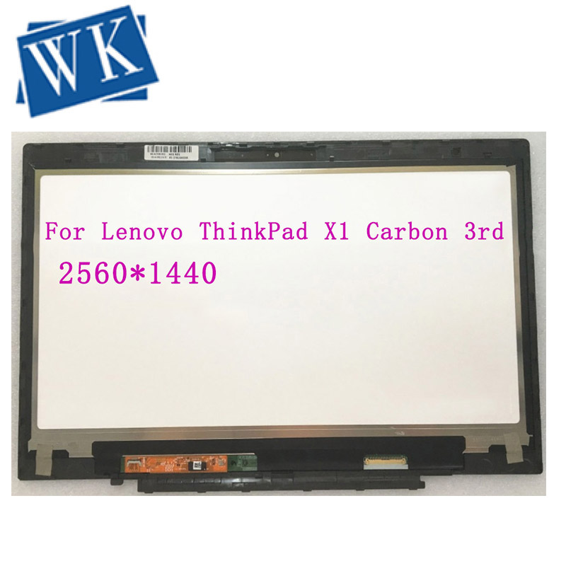 WQHD LCD Display Touch Screen Digitizer Assembly LP140QH1-SPA2 For Lenovo ThinkPad X1 Carbon 3rd Gen 20BS 20BT Laptop 00HN827