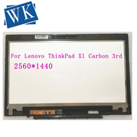WQHD LCD Display Touch Screen Digitizer Assembly LP140QH1 SPA2 For Lenovo ThinkPad X1 Carbon 3rd Gen 20BS 20BT Laptop 00HN827