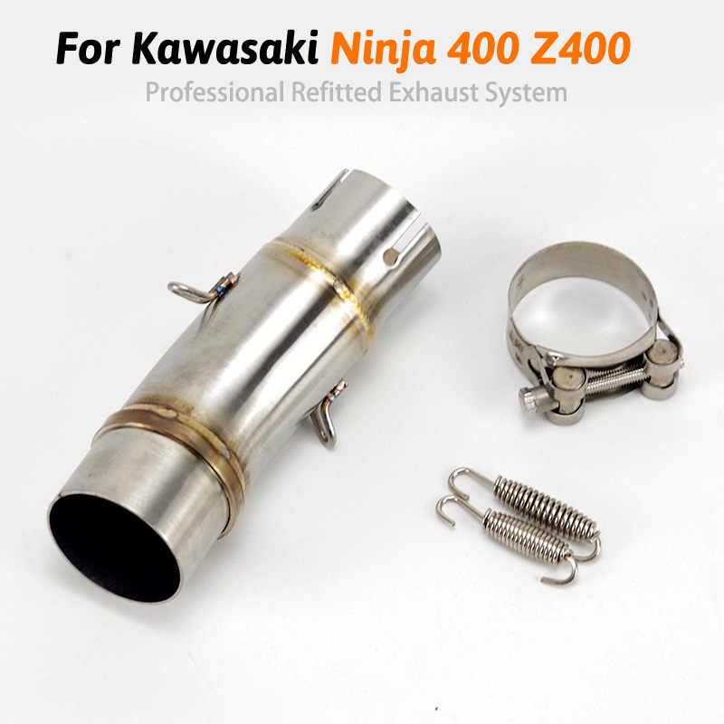 For Kawasaki Ninja 400  Z400 EX400 2019 2018 20 Motorcycle Exhaust Escape Modified Middle Link Pipe Muffler