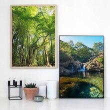 Paisagem moderna pintura a óleo verão floresta paisagem arte pintura da lona sala de estar corredor decoração casa mural