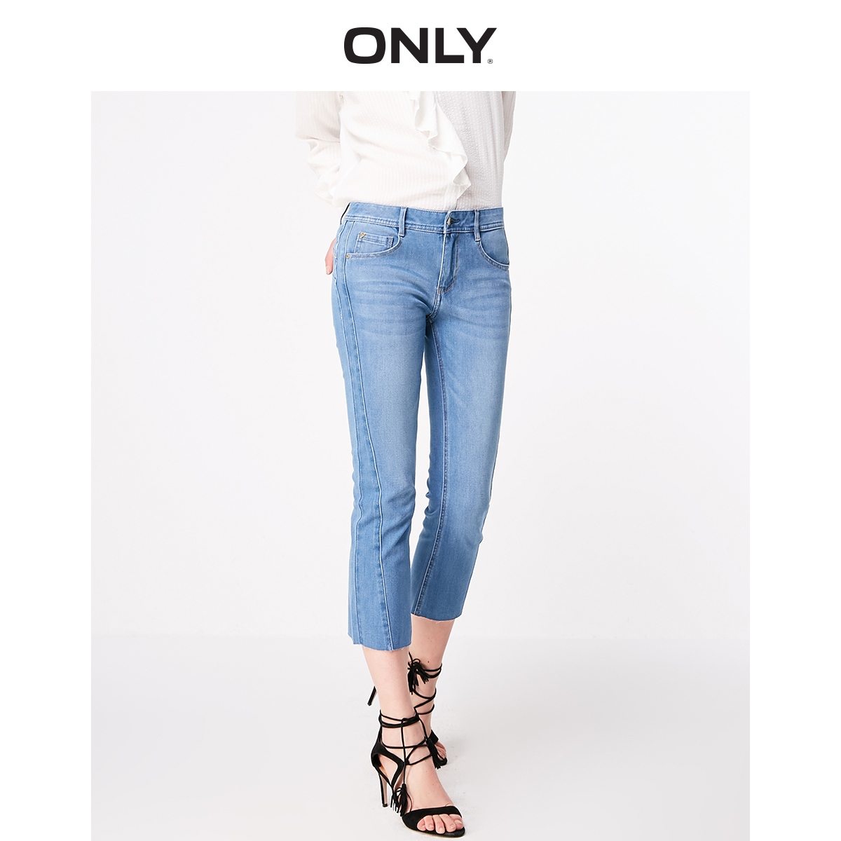 ONLY Women's Slim Straight Fit Low-rise Capri Jeans | 11916I510