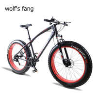 wolf's fang mountain bike 7/21/24 speed bicycle 26x4.0 fat bike Spring Fork snow bikes road bike Man Mechanical Disc Brake