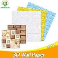 3D Tapete 70cm * 77cm DIY Marmor Wasserdichte Aufkleber 3D wand papier Selbst-Klebe Tapete Ziegel für home Küche schlafzimmer
