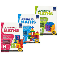 3 Books/Set SAP Learning Maths Collection Book N-K2 Kindergarten English Math Problems Teaching Books