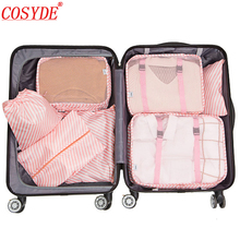 Cosyde 7PCS/Set Travel Mesh Bag In Suitcase Luggage Organizer Packing Cube High Quality Clothes Sorting BagTravel Accessories