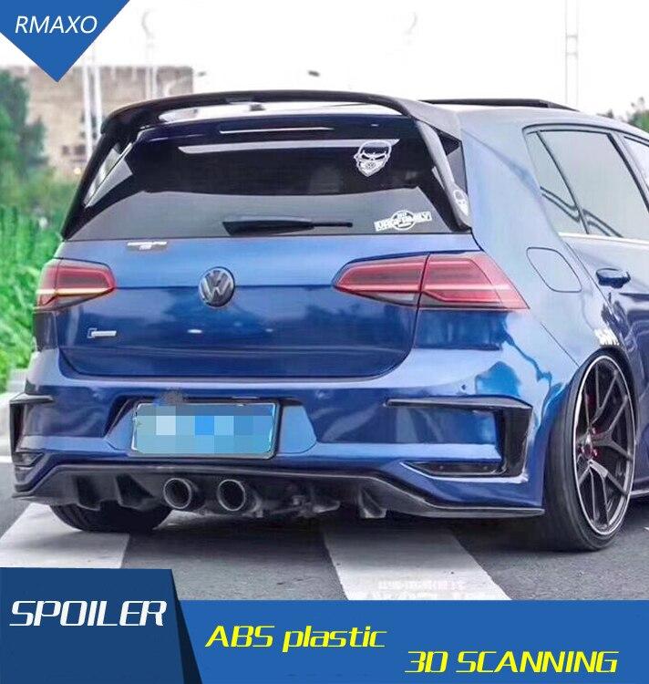 Для Golf 7 MK7 Golf спойлер 2014 2018 ABS Материал заднее крыло автомобиля праймер цвет задний спойлер для Volkswagen Golf 7,5 спойлер