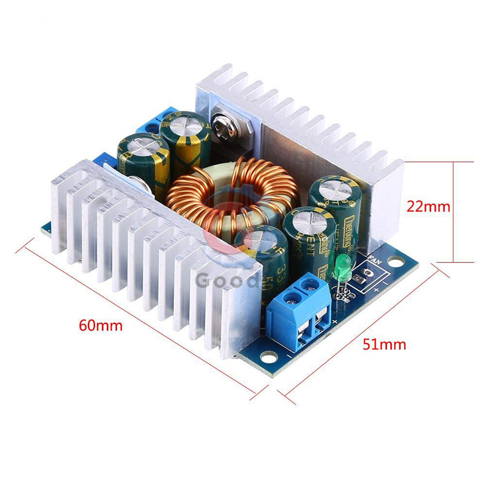 High Power 12A DC-DC Car Voltage Buck Power Supply Module 5-40V to 1.2-36V Step Down Converter Module with Aluminum Alloy Case