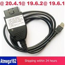 Vag com 20.4.2 strumento diagnostico OBD2 per auto vagcom 20.4.1 per vw/audi/seat/skoda francia e supporto russo hex Can interfaccia USB