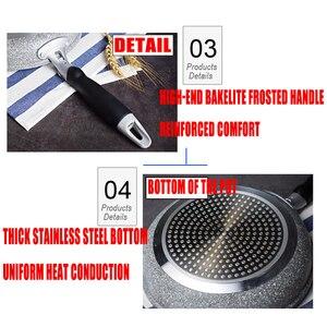 Image 5 - 20 & 28 inç yapışmaz bakır kızartma tavası seramik kaplama ve indüksiyon pişirme fırını ve bulaşık makinesi güvenli kızartma tavası