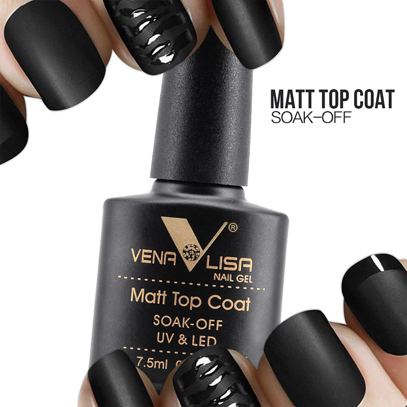 VENALISA Matte Top Coat CANNI Nail Art Design High Quality UV LED Base Coat No Sticky Layer Top Coat, Soak off Matt Topcoat 1