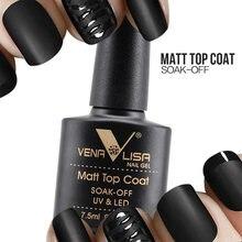 VENALISA матовая верхняя одежда дизайн ногтей CANNI дизайн высокое качество УФ светодиодный базовый слой, без липкого слоя верхнее покрытие, впит...