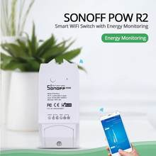 Sonoff – commutateur WiFi sans fil 15a Pow R2 pour maison intelligente, moniteur d'énergie en temps réel, commutateur Intelligent Alexa Google Home Voice