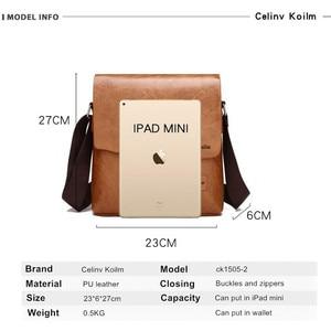 Image 2 - Celinv koilmブランドメンズメッセンジャーバッグ有名なブランドレザークロスボディショルダーバッグの男性ビジネストートバッグホット販売ファッション