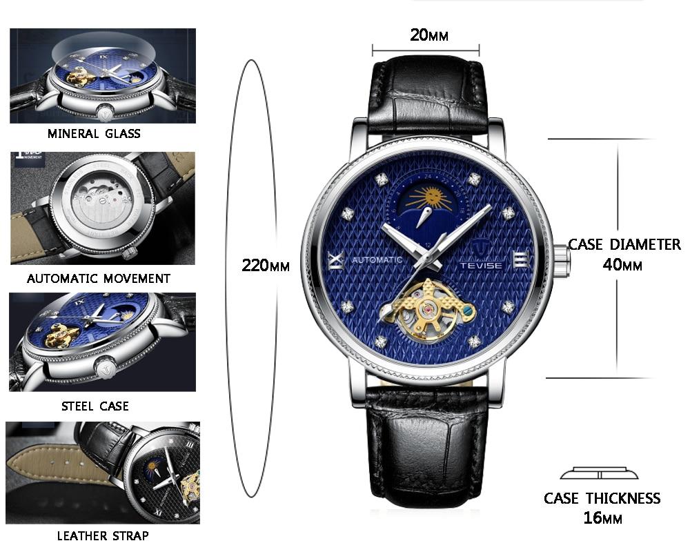 Tevise Automatic Tourbillon Mechanical Watches Waterproof Watch Men Luxury Brand Sport Men Watch Self Winding Relogio Masculino Pakistan