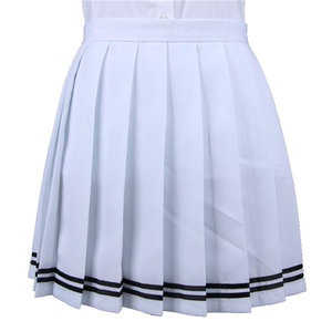 Image 5 - اليابانية مطوي كوس ماكارونس تنورة عالية الخصر المرأة التنانير السيدات Kawaii الإناث الكورية Harajuku الملابس للنساء