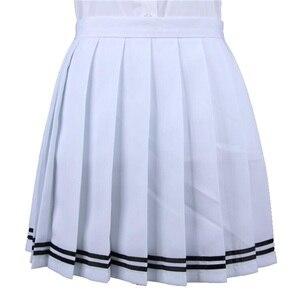 Image 5 - יפני קפלים Cos Macarons גבוהה מותן חצאית נשים של חצאיות גבירותיי Kawaii נשי קוריאני Harajuku בגדים לנשים