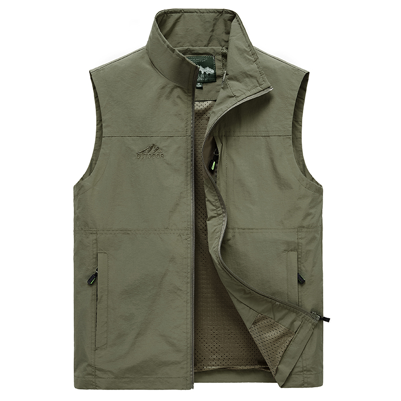 Sleeveless Vest Men Summer Breathable Waistcoat Multipockets Vest Jacket Men Outdoor Fishing Photography Vest Travel Clothes 7XL