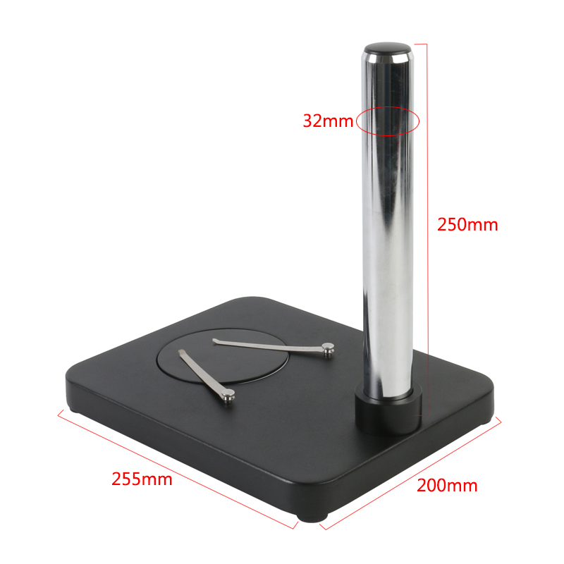 Tools : Metal Pillar Table Stand 25 5MM 20MM Small Base Plate Bottom Plate   Prop For Industrial Stereo Microscope Bracket Holder