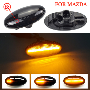 2 Pieces LED Dynamic Turn Signal Side Marker Light Sequential Blinker Light For Mazda 2 For Mazda 3 5 6 BT-50 MPV