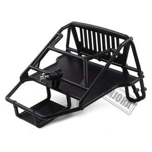 Image 5 - INJORA RC Car Cherokee Body Cab & Back Half Cage for 1/10 RC Crawler Traxxas TRX4 Axial SCX10 90046 Redcat GEN 8 Scout II