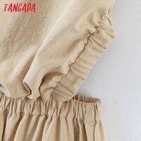 Tangada 2021 Summer Women Sexy Backless Beach Dress Sleeveless Ladies Long Dress Vestidos QB51 4