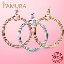 HEIßER Verkauf Silber O Anhänger 925 Sterling Silber O Anhänger fit Original Pamura Halskette DIY Charme Perlen Schmuck Geschenk