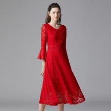 Женское платье трапеция taoyizhuai красное трапециевидной формы