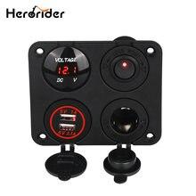 Herorider двойное зарядное устройство usb вольтметр 12 В Выходное