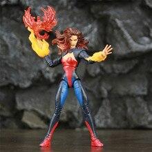 Экшн фигурка ML Legends X Men DARK Phoenix, экшн фигурка огненная птица, Fire Balls, эксклюзивная кукла 2P, цвет темно серый, Феникс, 6 дюймов