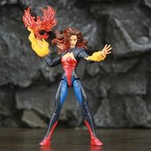 """Tùy Chỉnh ML Truyền Thuyết X Nam DARK Phoenix Jean Xám 6 """"Nhân Vật Hành Động Firebird Lửa Bóng Chỉ Trụ Độc Quyền cyclops 2P Đồ Chơi Búp Bê"""