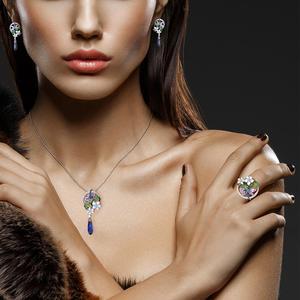 Image 5 - Santuzza anel de prata para mulher pura 925 prata esterlina delicada libélula flor zircônia cúbica moda jóias artesanal esmalte