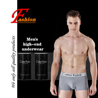High end cotton(95%) new noble men's underwear set comfortable breathable fashion crease proof cans packaging flat underpants