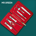 MR. GROEN 7 in 1 Manicure Set Rvs Nagelknipper Cuticle Utility Manicure Set Gereedschap Nail Clipper Grooming Kit Nail Care set