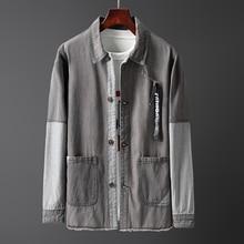 Джинсовые куртки мужские пальто Тренч Повседневная Подростковая джинсовая куртка крутой воротник с длинным рукавом джинсовый бомбер куртки Мужская ветровка