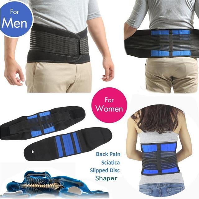Tcare-vendaje ajustable de neopreno con dos tiras en la zona Lumbar, banda para aliviar el dolor, de talla grande S-6XL, Unisex, correa de espalda Lumbar 2
