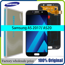 """Super Amoled 5.2 """"Lcd Voor Samsung Galaxy A5 2017 Lcd scherm Touch Screen Assembly Voor Samsung A520 SM 520F A520M a520 Display"""