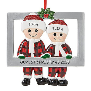 Personalized name Christmas decoration , 2020 quarantine family custom Christmas Decoration Kit family creative gife DIY