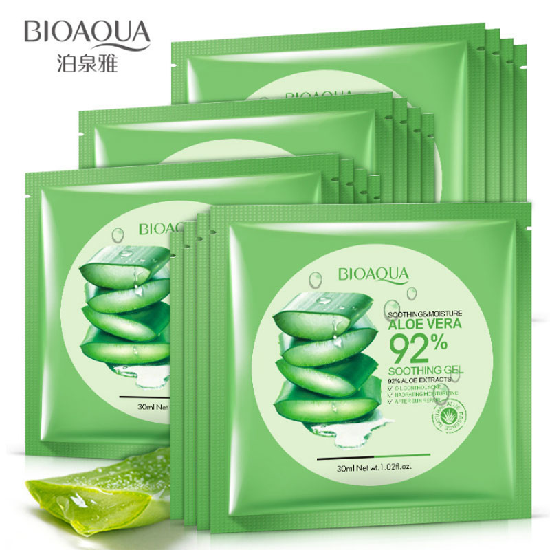 Natural Aloe Vera Collagen Face Mask Anti-aging Moisturizing Whitening Facial Mask Beauty Face Care Product Soothing Gel